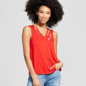 Clavicle Cut-Out Graphic tank-64-727